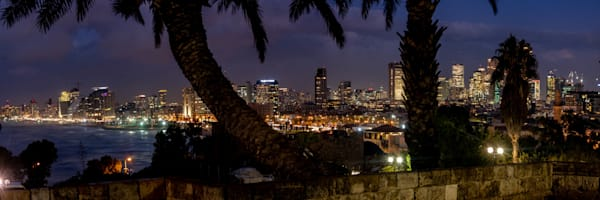 Tel Aviv Night Panorama