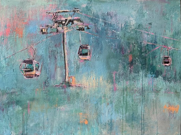 Ski Lift Vii Art | Atelier Steph Fonteyn