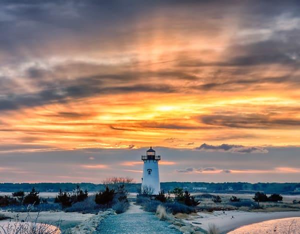 Edgartown Light Golden Winter Photography Art | Michael Blanchard Inspirational Photography - Crossroads Gallery