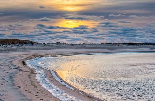 Long Point Frozen Winter Sunset