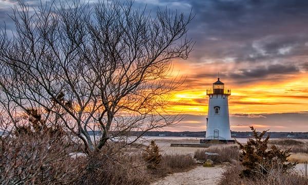 Edgartown Light Winter Sun Beams