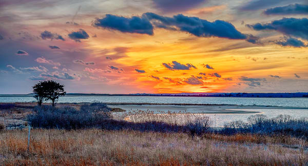 Long Point Winter Clouds At Sunset Art | Michael Blanchard Inspirational Photography - Crossroads Gallery