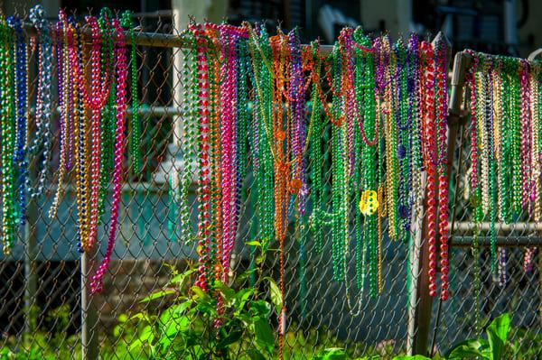 Mardi Gras fence - New Orleans fine-art photography prints