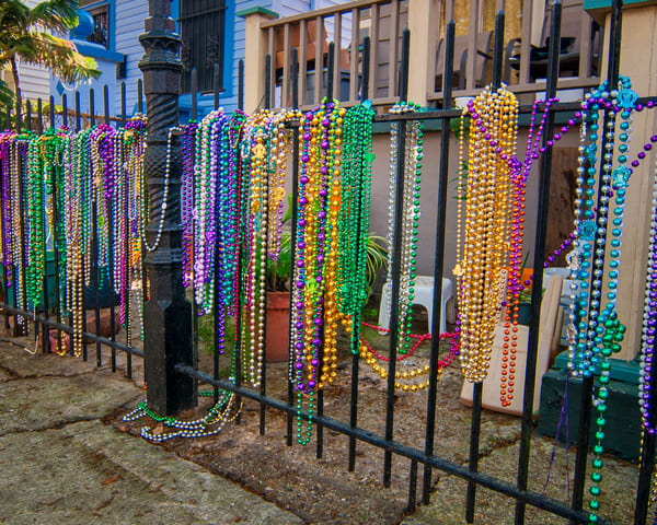 French Quarter Mardi Gras beads - New Orleans fine-art photography prints