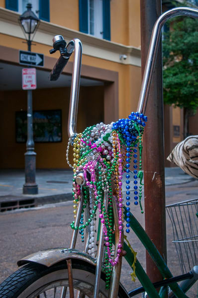 Mardi Gras bicycle - New Orleans fine-art photography