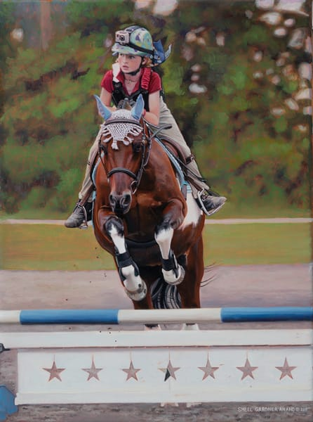 Equestrian Daisy Art | The Huntington Studio