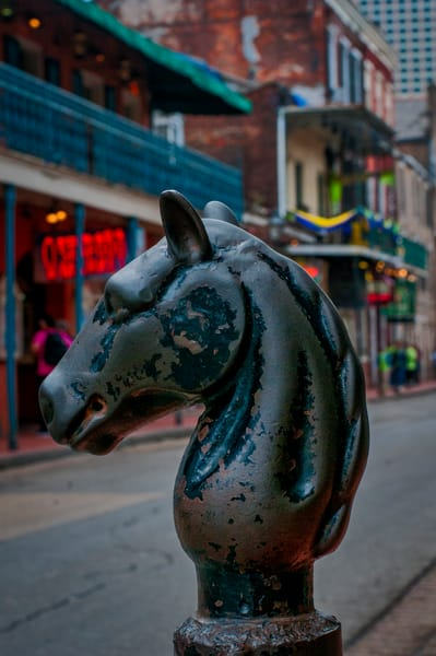 Bourbon Street hitch post - New Orleans fine-art photography prints