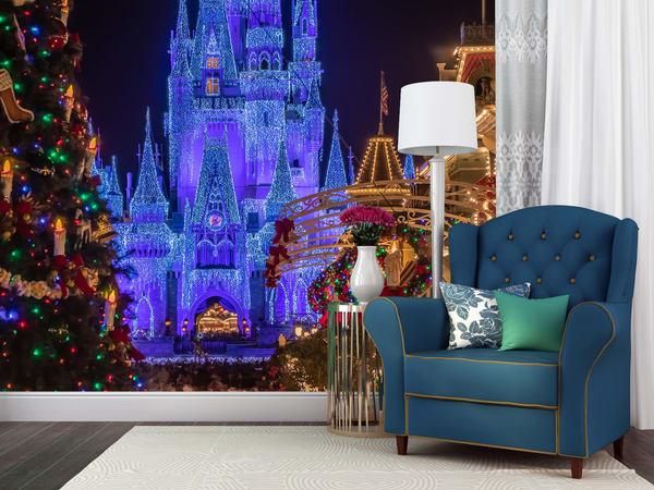 Disney's Magical Christmas Mural - Magic Kingdom Murals | William Drew