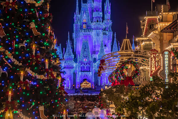 Disney's Magical Christmas Mural - Magic Kingdom Murals   William Drew