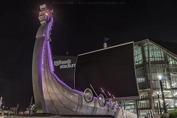 Minnesota Vikings Ship - Minneapolis Wall Murals | William Drew