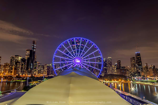 Chicago Skyline from the Navy Pier - City Murals | William Drew Photography