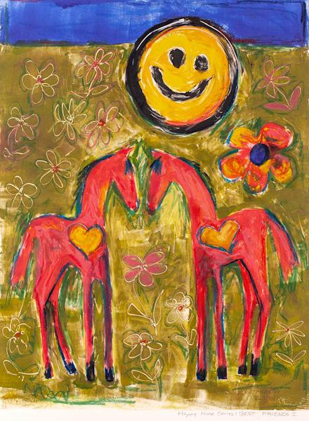 Best Friends I, Original Art | Cristina Acosta Art & Design llc