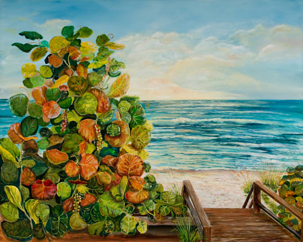 Sea Grapes, From an Original Oil Painting