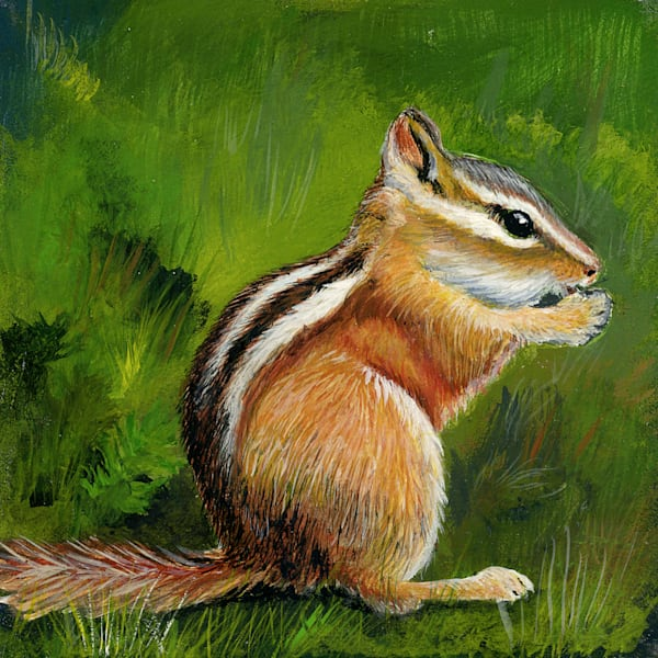 Chipmunk, Original Acrylic Painting
