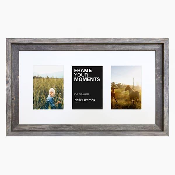 Collage Frame | 5x7 Barnwood Trio