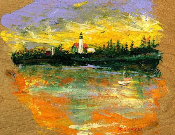Pemaquid Point Light Art | DBA George Delany Art