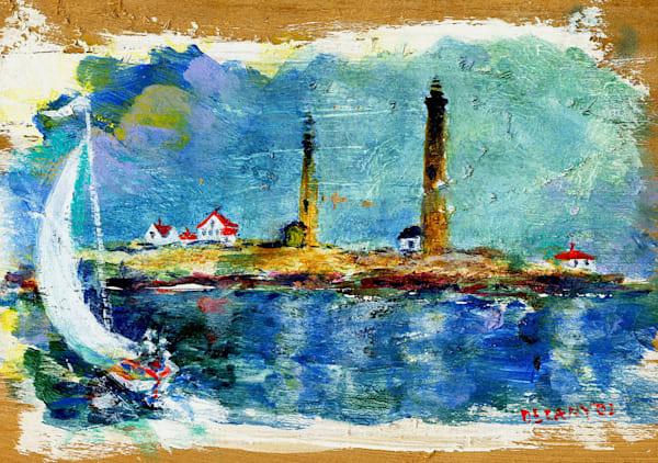 Thacher Island Twin Lights Art Print