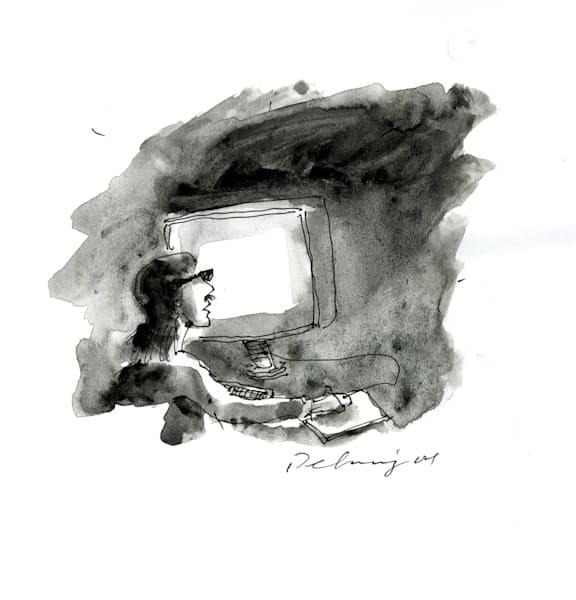 Computer Person #6 Print
