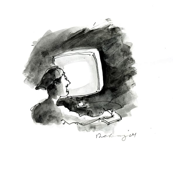 Computer Person #8 Print