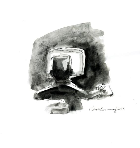 Computer Person #9 Print