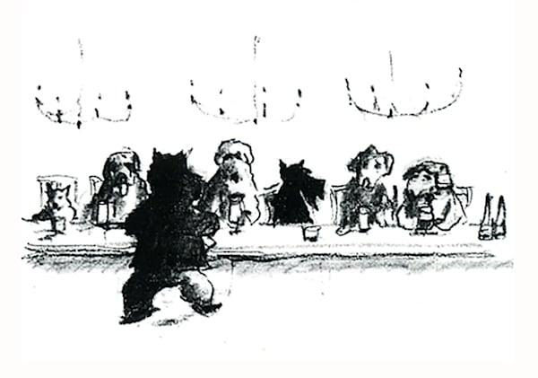 Scotty Serves Gang Art Print