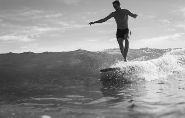 A modern surfer longboards with classic style