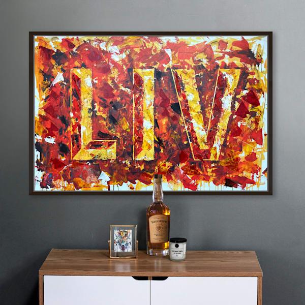 LIV: Artist-Enhanced Canvas 🏈 Limited Edition of 50 by Kansas City artist, Megh Knappenberger