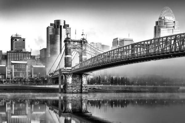 Foggy Morning In Cincinnati Photography Art | Studio 221 Photography