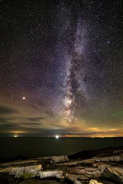 Schoodic Point Milky Way Photography Art | Monteux Gallery