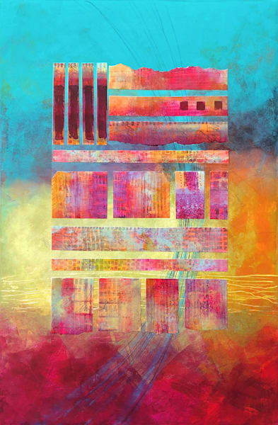 Cabernet Twilight - Original Abstract Painting | Cynthia Coldren Fine Art