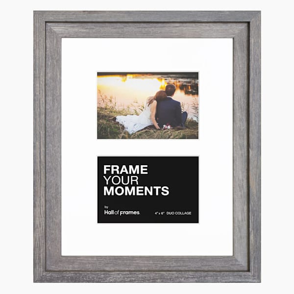 Collage Frame | 4x6 Barnwood Duo