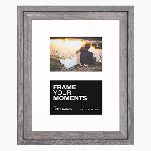 Collage Frame | 5x7 Barnwood Duo