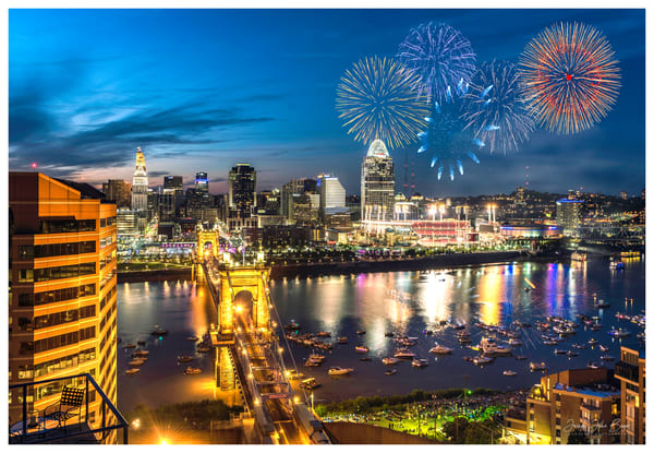 Cincinnati Fireworks Photography Art | Studio 221 Photography