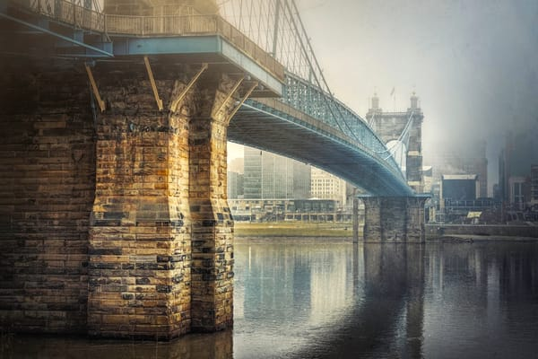 Roebling Bridge In The Fog Photography Art | Studio 221 Photography