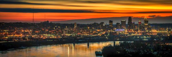 Cincinnati Sunrise From Mt Echo Photography Art   Studio 221 Photography
