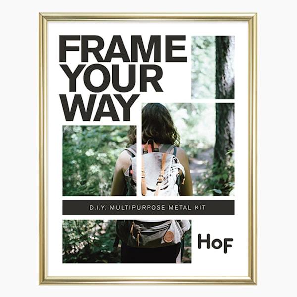Meta Frame | 8.5x11 Shiny Gold