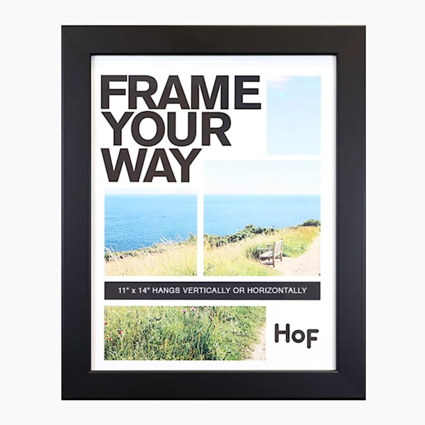 11x14 Black Wall Frame | Hall of Frames