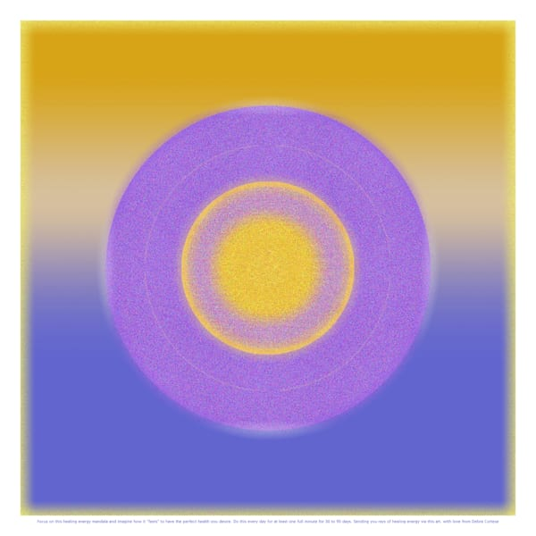 Healing Vibrations Violet, Blue, Golds Meditation Art for Health - Debra Cortese art