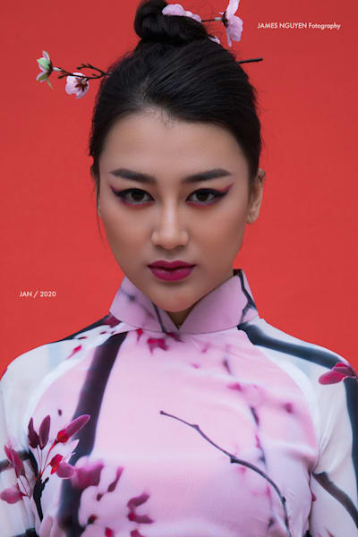 Cherry Blossom Ao Dai Photography Art | David Louis Klein