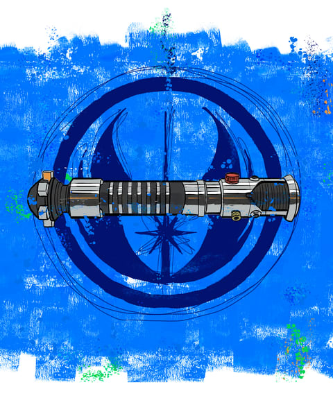 Laser Sword in Blue - The OB1