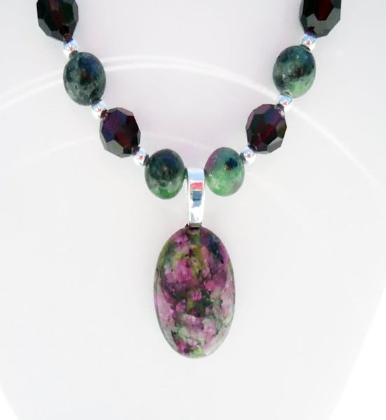 KThierstein-Cabochon Necklace with Earrings