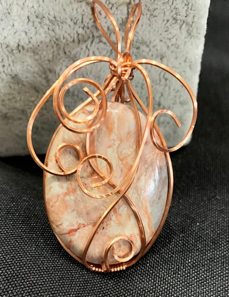 J Rosenburg   Copper Wrapped Lace Agate | Branson West Art Gallery - Mary Phillip