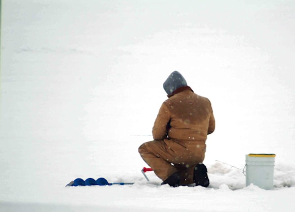 Ice Fisherman  Lake Sinclair Art | DocSaundersPhotography
