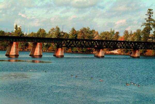 Escanaba Railroad Bridge Art | DocSaundersPhotography