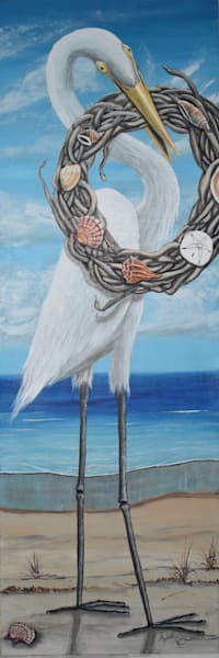 Egret Greetings Art | Shore Paintings