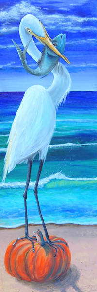 Egret Harvest Art | Shore Paintings