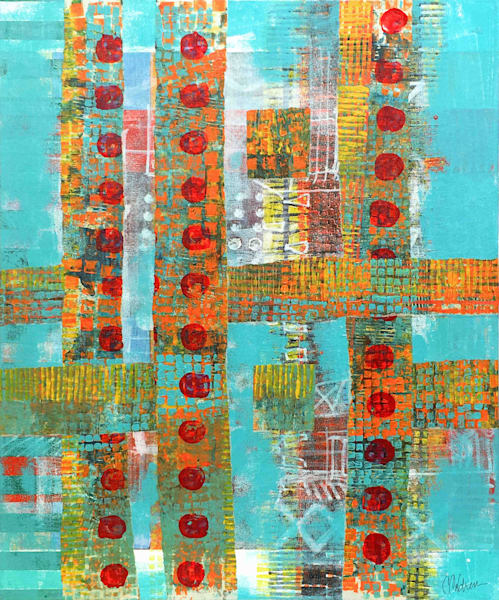 Dotted Lines - Original Abstract Painting | Cynthia Coldren Fine Art