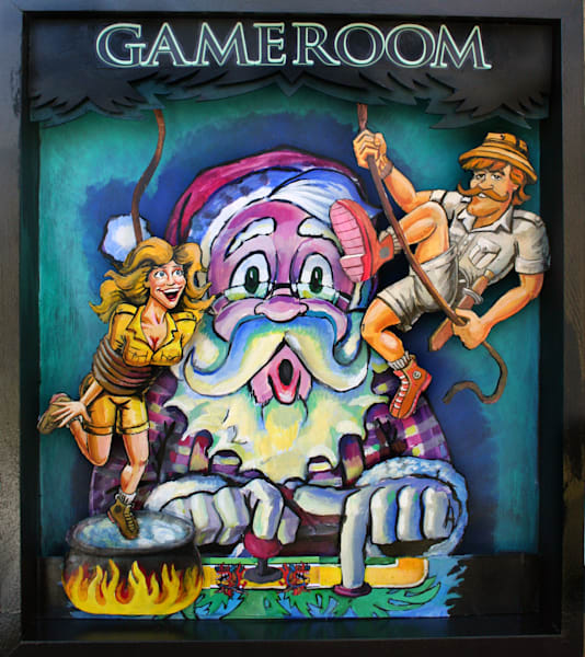 Santa, art, video, games