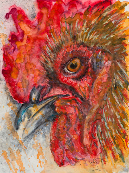 Badass Chicken Art | Debra Bruner Studio