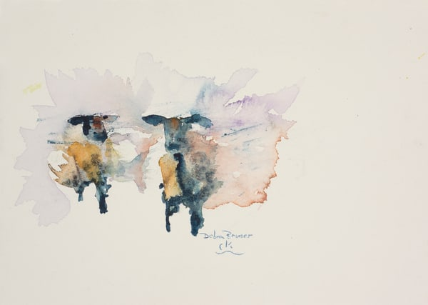 Two Blue Ewes  Art by debrabrunerstudio